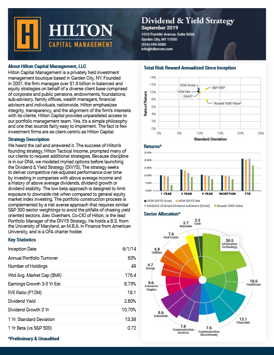 Hilton Factsheet DIVYs